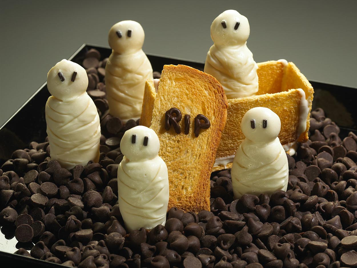 Halloween. Momias de galleta