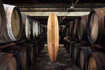 Tablas de surf a partir de barricas de whisky recicladas